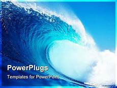 Ppt On Waves Ppt Template Big Blue Wave Surfing In The Ocean Title