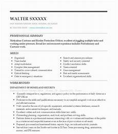 Resume For Customs And Border Protection Officer Customs And Border Protection Officer Resume Sample