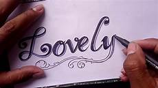 Design Your Own Online Lettering Lovely Drawing Style Lovely Fancy Letters How
