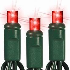 Hls Lighting Software Red Led String Lights 24 Ft Green Wire 5mm Wide