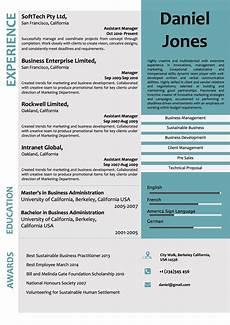 Word Template For Resume Creative Corporate Microsoft Word Resume Template Vista