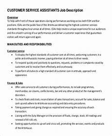 Duties Of A Customer Service Executive Free 11 Sample Customer Service Manager Job Descriptions