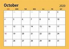 October Calendar October Calendar 2020 With Holidays Usa Uk Australia