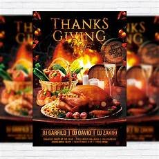 Thanksgiving Flyers Thanksgiving Day Premium Flyer Template Facebook Cover