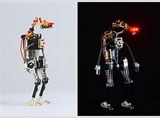 Miniature Toy Robots Made from Recycled Electronic