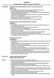 Executive Chef Job Description Sample Executive Chef Resume Louiesportsmouth Com