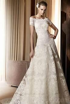 vintage lace off the shoulder wedding dresses with a line
