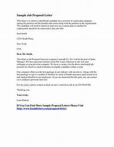 Job Proposal Letter Example Sample Job Proposal Letter