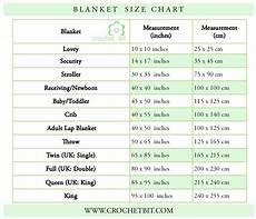 Blanket Chart Knit And Crochet Size Charts