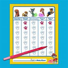 Free Printable Potty Chart Paw Patrol Free Paw Patrol Potty Training Chart To Download And Print