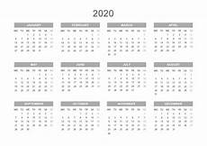 Free Printable Yearly Calendars 2020 Printable Template Calendar