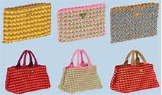 crochet bolsos bolso prada de ganchillo crochet prada bag trizas y trazos