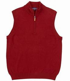 Roundtree And Yorke Size Chart Roundtree Amp Yorke Quarter Zip Solid Sweater Vest Dillard S