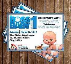 Baby Birthday Party Invitation Novel Concept Designs Boss Baby Movie Birthday Party