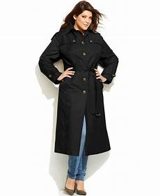 plus size trench coats for 4x foggy fog plus size hooded belted maxi trench coat in