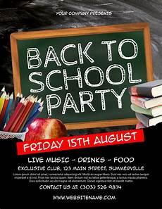 Back To School Flyer Templates Back To School Party Flyer Template Postermywall