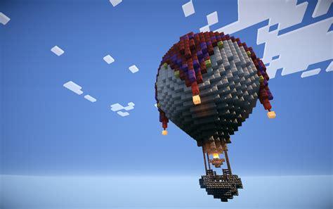 Minecraft Hot Air Balloon Schematic