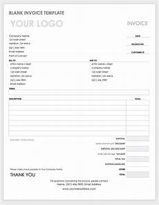 Bill Invoice Template Word Free Ms Word Invoices Templates Smartsheet