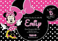 Minnie Mouse Invitation Template Free Special Minnie Mouse Birthday Invitation Design Template