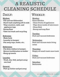 House Chores Schedule A Realistic Cleaning Schedule You Can Stick With House
