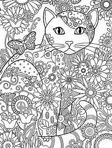 Ausmalbilder Katze Mandala Katzen Malvorlage Mandala Cat Mandala Coloring Page Free