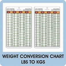 Weight Chart Pounds To Kilograms Weight Conversion Pvc Plastic Card Lbs To Kg Reference