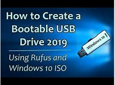 How to Make Windows 10 Bootable USB Drive 2019   Download