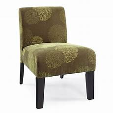 armless accent chair modern contemporary armless upholstered floral accent