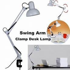 Clamp Reading Light Adjustable Swing Arm Bedside Lamp Clamp On Study Reading
