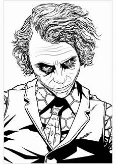 the joker heath ledger coloring pages