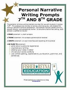 Narrative Essay Prompts 6 8th Gr Personal Narrative Writing Prompts Staar And Cc Tpt