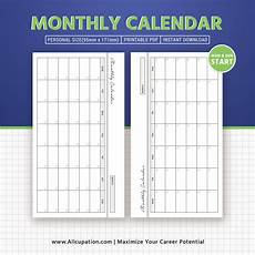 Personal Calendars 2020 Monthly Calendar 2020 Calendar Printable Personal Size