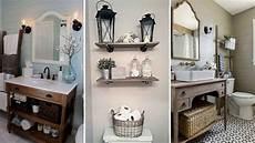 diy rustic shabby chic style bathroom decor ideas rustic
