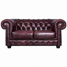 chesterfield three seat sofa brown leather vintage