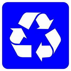 Recycling Symbols File Recycling Symbol White On Blue Svg Wikimedia Commons
