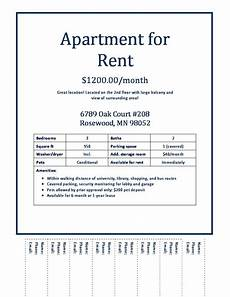 Free Rent Ads Download Apartments For Rent Flyer Gen4congresscom