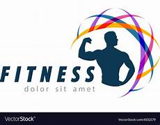 Fitness Logo Design Fitness Logo Design Template Sport Or Gym Vector Image