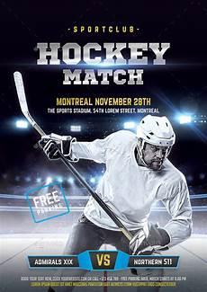 Hockey Flyer Template Hockey Flyer By Bornx Graphicriver