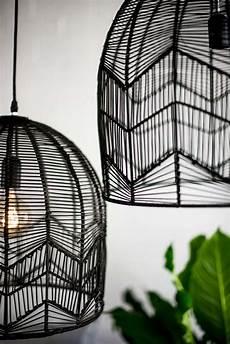 Black Rattan Ceiling Light Lace Rattan Pendant Black In 2019 Light Kitchen