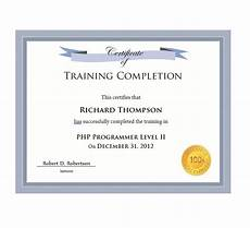 Training Certificate Of Completion 40 Fantastic Certificate Of Completion Templates Word