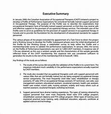 Executive Summary Report Free 16 Summary Report Templates In Pdf Ms Word Apple