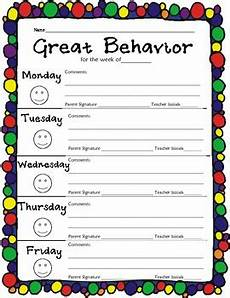 Behavior Charts For Elementary Students Elementary Weekly Behavior Chart By Gretchen Kassel Tpt