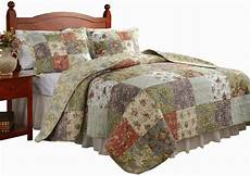 king size quilt bedding set 3 pc reversible patchwork 100