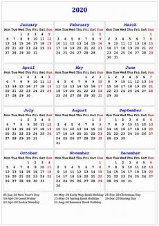 2020 Calendar With Holidays Printable 2020 Calendar Printable With Holidays And Notes Calendar