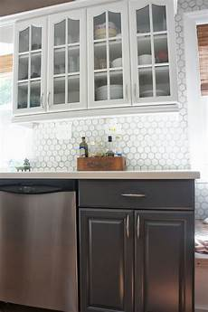 kitchen backsplash white remodelaholic gray and white kitchen makeover with