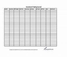 Stock Market Worksheet Investment Stock Trading Journal Spreadsheet