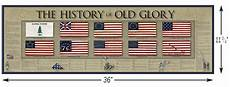 Flags Timeline History Of The Us Flag Old Glory Poster Patriotic