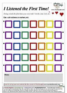 Toddler Behavior Chart Ideas Listened The First Time Chart Reward Chart Kids Kids