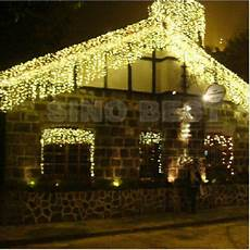 Warm White Christmas Lights Outdoor Outdoor 110 Led Icicle Lights Warm White Christmas Holiday