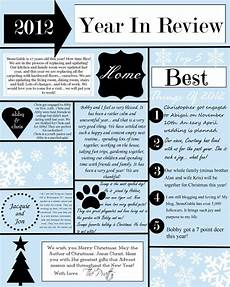 Christmas Family Newsletter Templates Free A Year In Review Christmas Letter And Template Stonegable